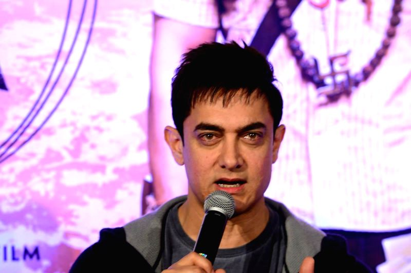 Actor Aamir Khan during the during the promotion of the film PK in Hyedrabad.