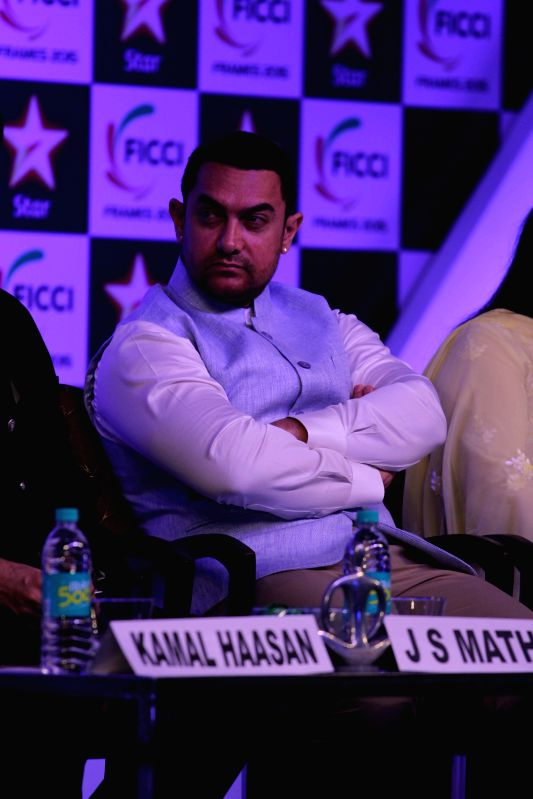 Actor Aamir Khan during the inaugural session of FICCI Frames 2015 in Mumbai on March 25, 2015. - Aamir Khan