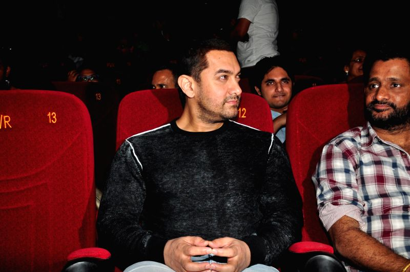 Actor Aamir Khan during the trailer launch of film Margarita, with a Straw in Mumbai on March 4, 2015. - Aamir Khan