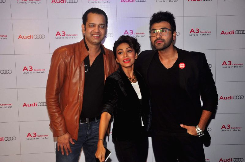 Actor Aarya Babbar and Rahul Mahajan during launch of Audi A 3, in Mumbai, on Dec. 20, 2014. - Aarya Babbar and Rahul Mahajan