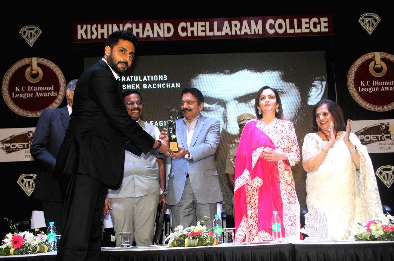Actor Abhishek Bachchan during the Diamond Jubilee year celebration of Kishinchand Chellaram College in Mumbai on 7th February 2015 - Abhishek Bachchan
