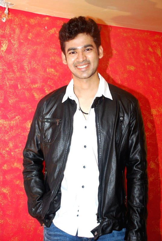 Actor  Abhishek Sethiya during the music launch of film Round Figure  in Mumbai on Dec 26, 2014. - Abhishek Sethiya