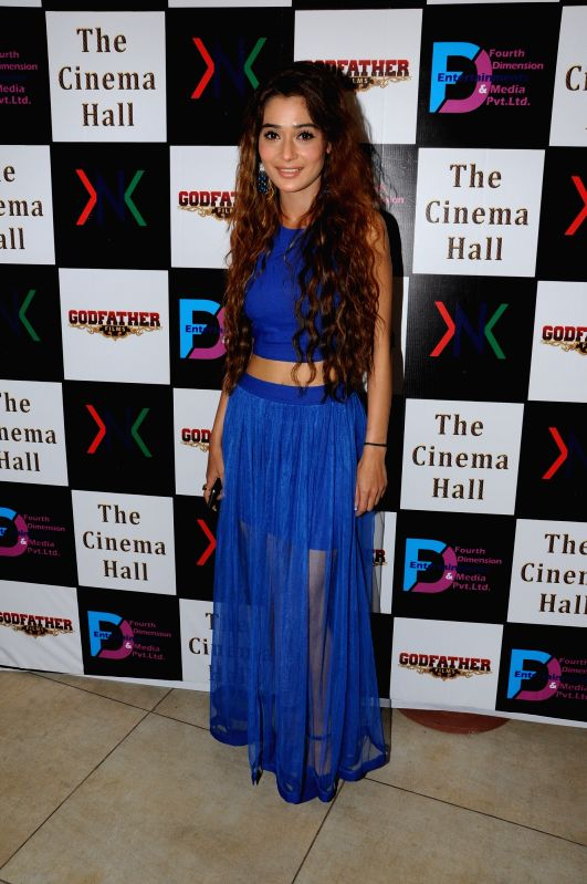 Actor actor Sara Khan during the announcement of new Film, The Cinema Hall, in Mumbai, on April 17, 2015. - Sara Khan
