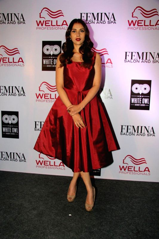 Actor Aditi Rao Hydari during the cover launch of Femina Salon and Spa magazine in Mumbai, on Jan 21, 2015.