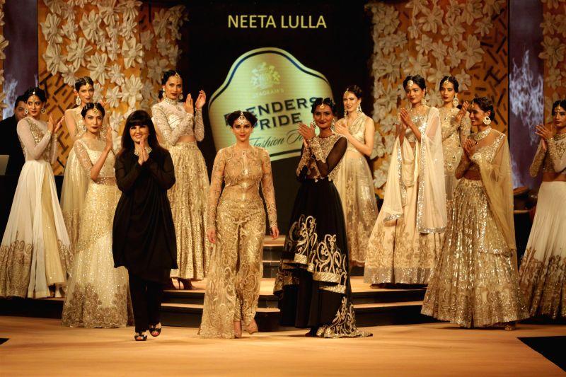 Actor Aditi Rao Hydari showstopper for Neeta Lulla at Blenders Pride Fashion Tour 2014 in Mumbai on Saturday, November 29, 2014. - Aditi Rao Hydari