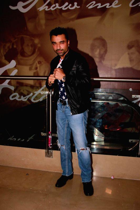 Actor Ajaz Khan during screening of the film Khamoshiyan in Mumbai on January 29, 2015. - Ajaz Khan