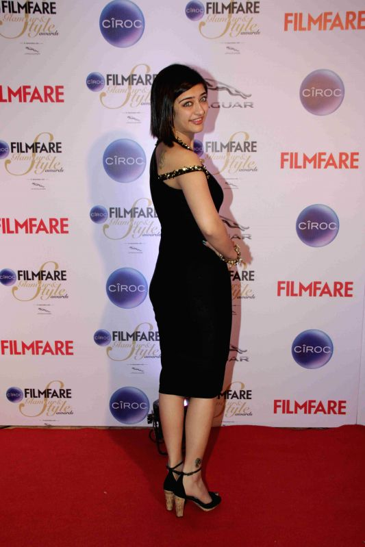 Actor Akshara Haasan during the Filmfare Glamour and Style Awards in Mumbai on Feb 26, 2015. - Akshara Haasan