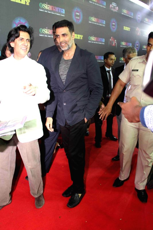 Actor Akshay Kumar during the premiere of film Baby in Mumbai, on Jan. 23, 2015. - Akshay Kumar