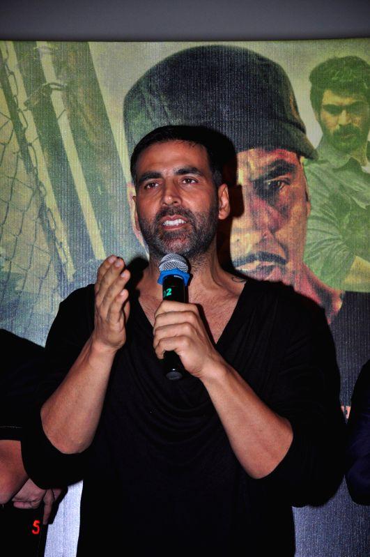 Actor Akshay Kumar during the trailer launch of film Baby in Mumbai,  on Dec 3, 2014. - Akshay Kumar