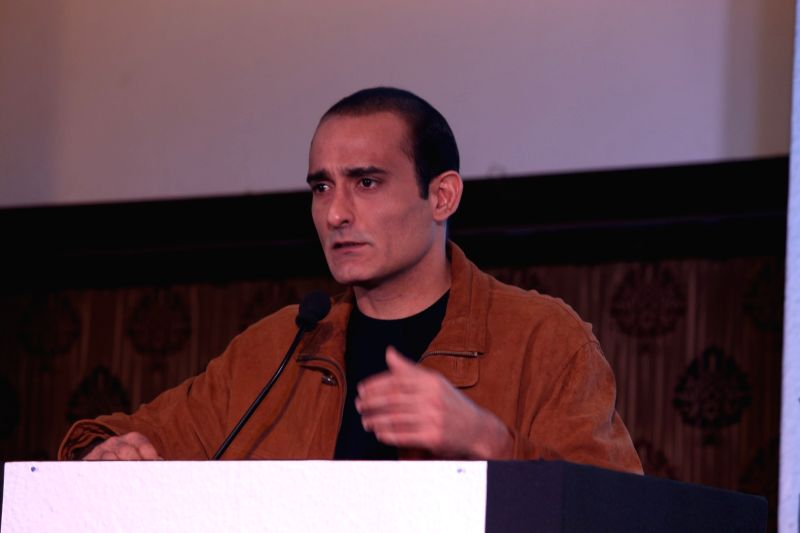 Mumbai:  Actor Akshaye Khanna during the launch of Gujcon product.