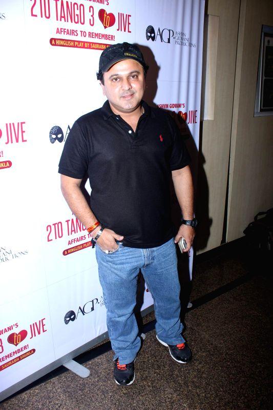 Actor Ali Asgar during Ashvin Gidwani`s play Two to Tango Three to Jive, in Mumbai on April 4, 2015. - Ali Asgar