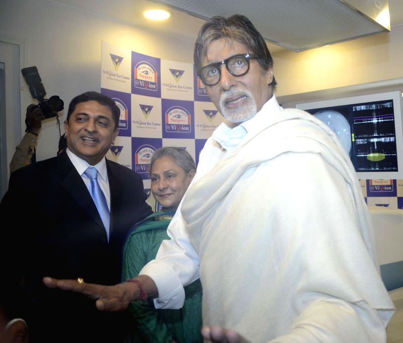 Actor Amitabh Bachchan at the inauguration of an eye clinic in Mumbai on Jan 21, 2015.
