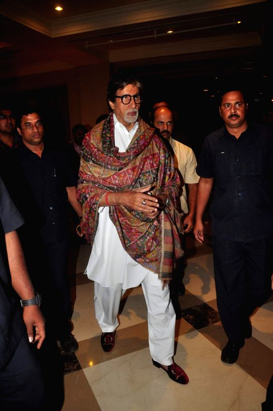 Actor Amitabh Bachchan during launch of TB irradication awareness campaign in Mumbai, on Dec 21, 2014.