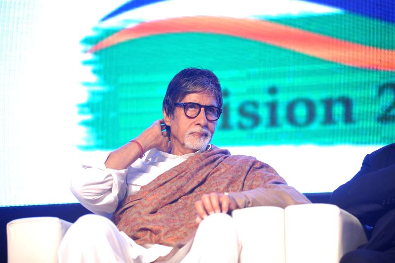 Actor Amitabh Bachchan during Rotary Club of Bombay`s WOW District Conference 2015 (DISCON) in Mumbai on  Feb 01, 2015. - Amitabh Bachchan