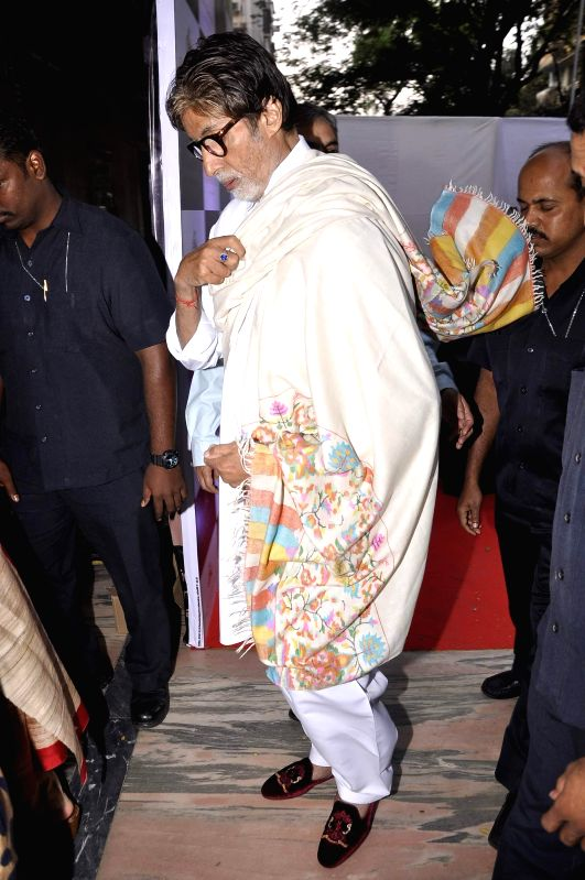 Actor Amitabh Bachchan during the inauguration of a workshop organized by the Film Heritage Foundation entitled `Film Preservation and Restoration School India 2015` in Mumbai on Feb 22, ...