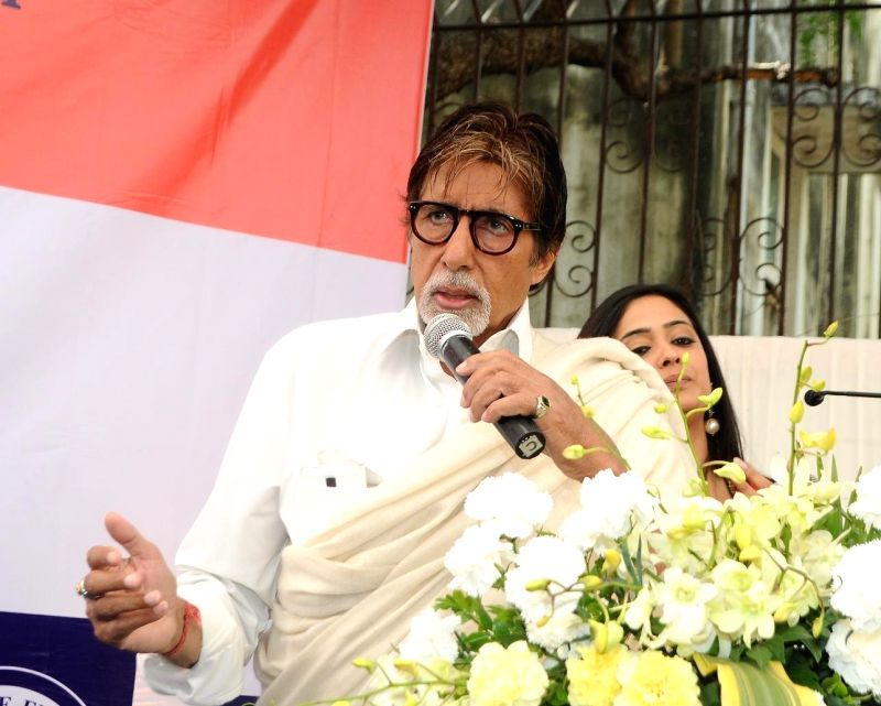 Actor Amitabh Bachchan during the launch of eye care LenSx femtosecond laser, at the vision centre in Mumbai on Jan 21, 2015. - Amitabh Bachchan