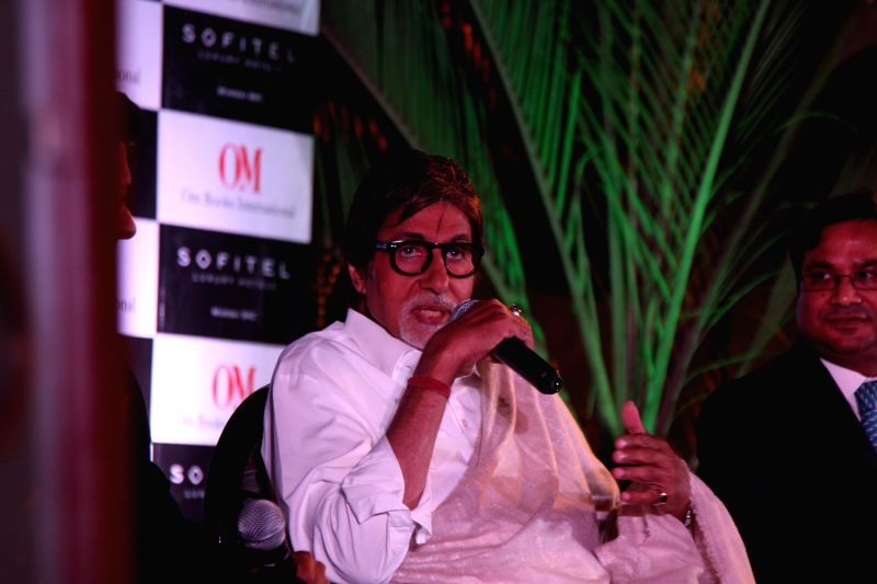 Actor Amitabh Bachchan during the launch Rohit Khilananis book I Hate Bollywood in Mumbai, on Jan. 22, 2015. - Amitabh Bachchan