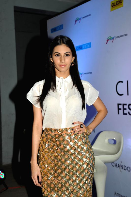 Actor Amyra Dastur during the opening night of CinePlay Festival Act in Mumbai on Feb 27, 2015. - Amyra Dastur