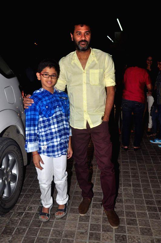 Actor and filmmaker Prabhu Deva during the screening of film Action Jackson in Mumbai, on December 4, 2014.