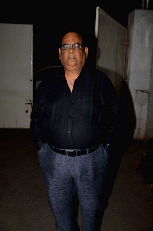 Actor and filmmaker Satish Kaushik during the trailer launch of international film Promise Dad in Mumbai, on April 23, 2015.