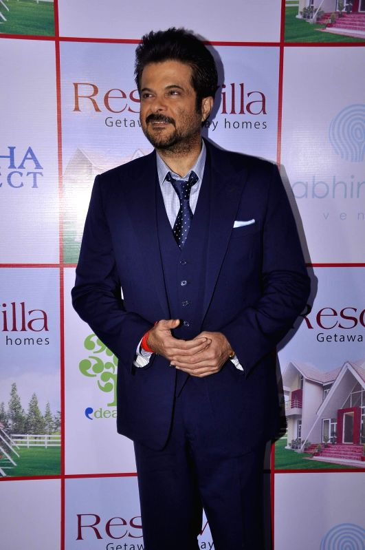Actor Anil Kapoor during the launch of Resovilla, holiday home (phase 2) in Mumbai, on March 2, 2015. - Anil Kapoor