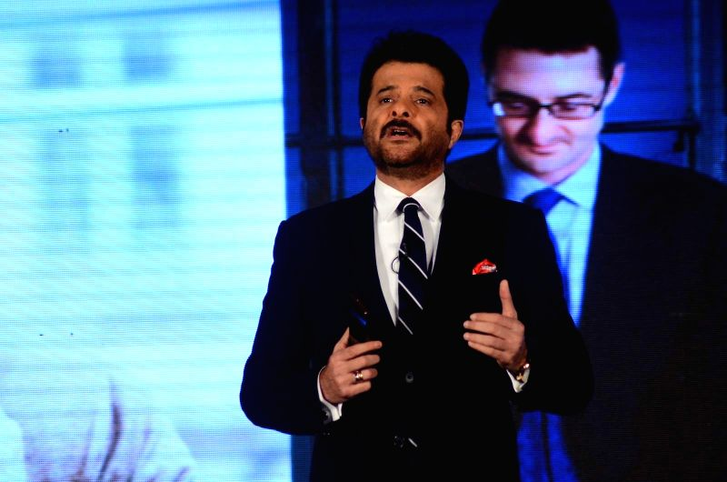 Actor Anil Kapoor during the launch of LG G Flex2 phones, in Mumbai, on April 30, 2015. - Anil Kapoor