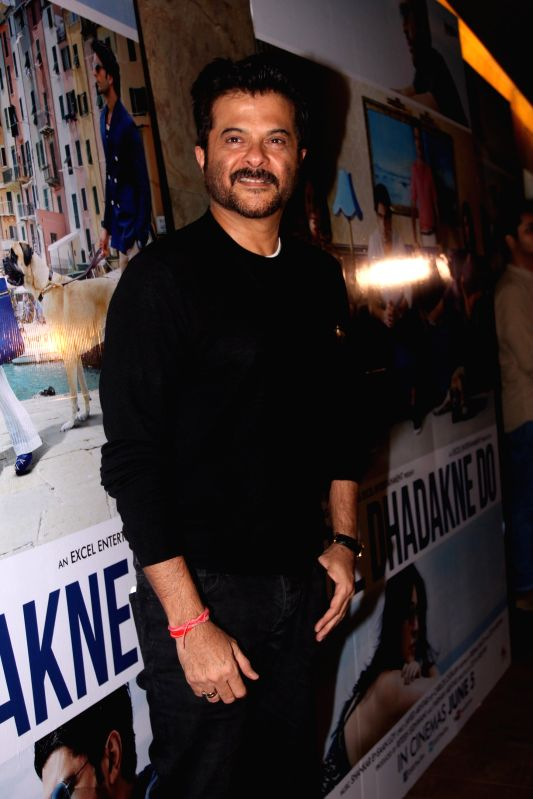 Actor Anil Kapoor get together to watch the trailer of the movie Dil Dhadakne Do in Mumbai on Wednesday, April 15th, 2015. - Anil Kapoor