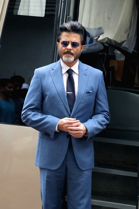 ": Mumbai: Actor Anil Kapoor on the sets of reality television show ""Dance Deewane"" in Mumbai on July 23, 2018.(Photo: IANS)."