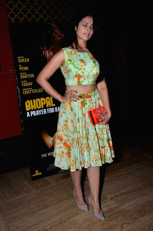 Actor Anjana Sukhani during the premiere of film Bhopal: A Prayer for Rain in Mumbai, on December 4, 2014. - Anjana Sukhani