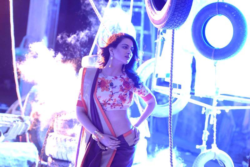 Actor Ankita Shorey during a photo shoot with Roahn Shresta for Sahiba sarees in Mumbai on March 12, 2015.