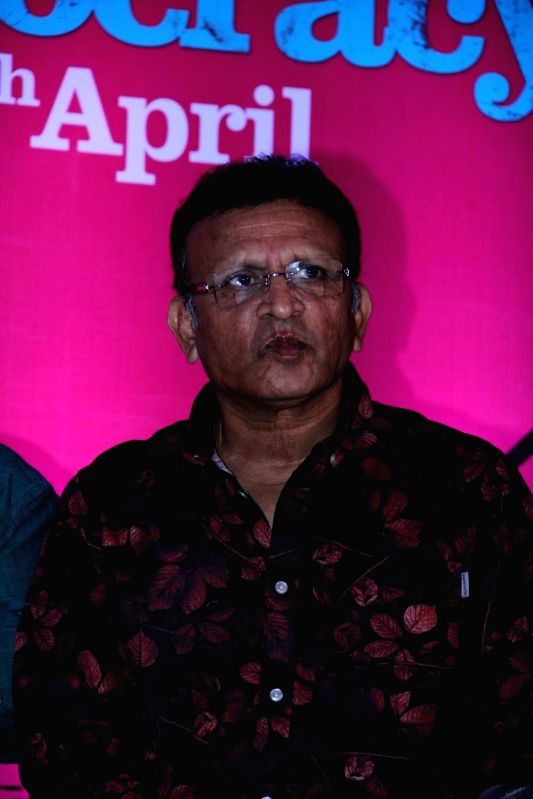 Actor Annu Kapoor during the trailer launch of film Jai Ho Democracy in Mumbai on 18th March 2015 - Annu Kapoor