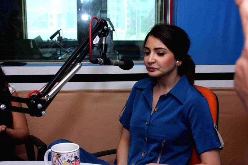Actor Anushka Sharma at Red FM studio to promote her upcoming film NH10 in Mumbai on Feb 19, 2015. - Anushka Sharma