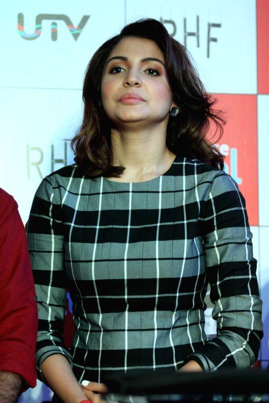 Actor Anushka Sharma during the launch of official mobile game PK, in Mumbai on Dec. 12, 2014. - Anushka Sharma