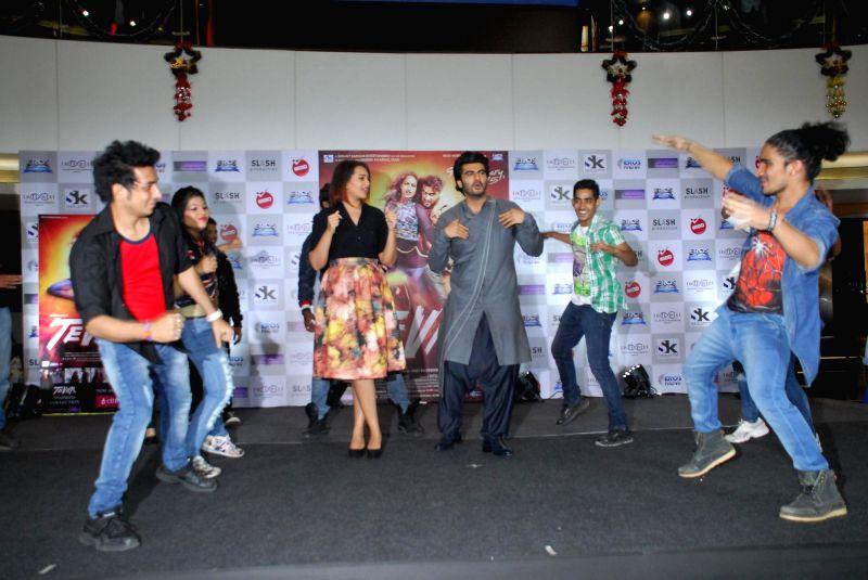 Actor Arjun Kapoor and Sonakshi Sinha during the promotion of film Tevar in Mumbai, on jan. 08, 2015. - Arjun Kapoor and Sonakshi Sinha