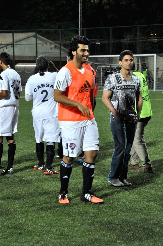 Actor Arjun Kapoor during all stars football match in Mumbai on Feb 26, 2015. - Arjun Kapoor
