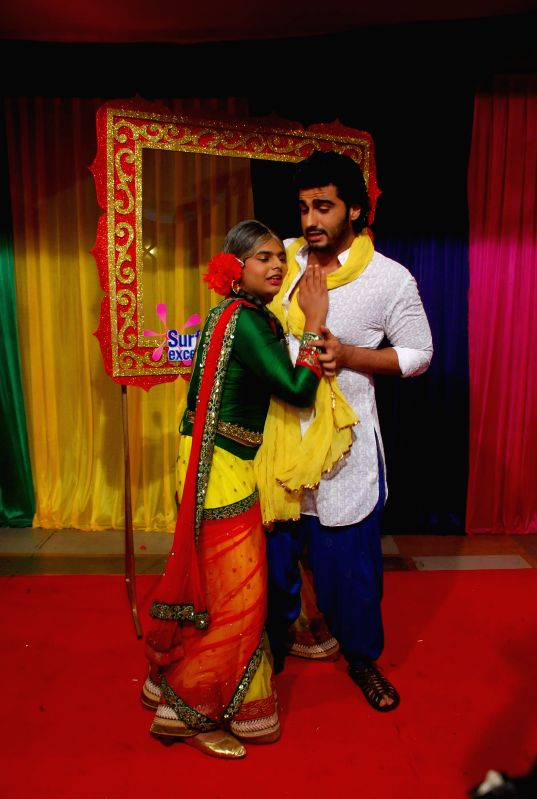Actor Arjun Kapoor during Life Ok`s Holi event  in Mumbai, on February 28, 2015.