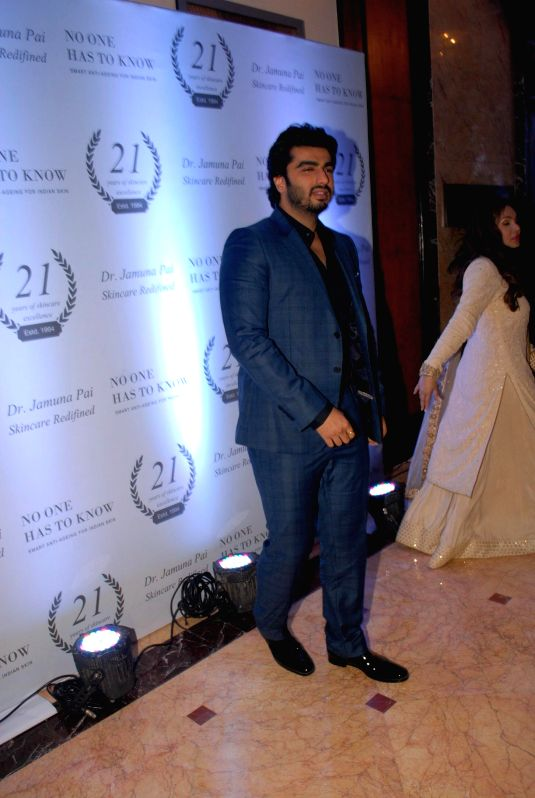 Actor Arjun Kapoor during the launch of Dr Jamuna Pai's book No One Has to Know, the ultimate skin care and Anti Ageing Guide in Mumbai, on Jan 27, 2015. - Arjun Kapoor