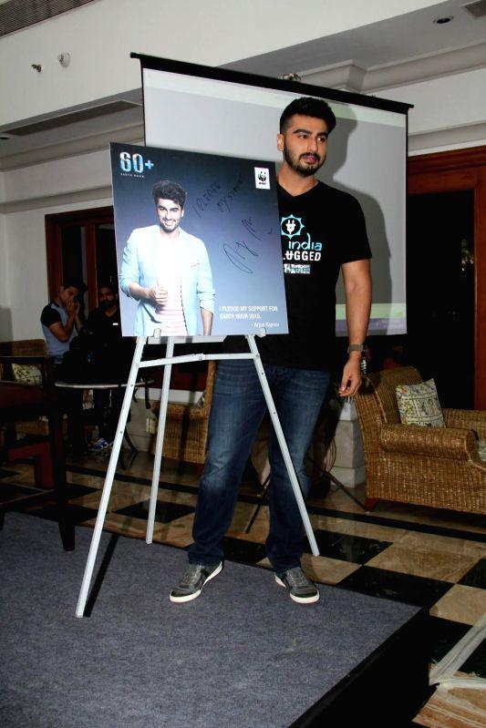 Actor Arjun Kapoor Turns Brand Ambassador For Save The Earth Initiative By WWF in Mumbai. - Arjun Kapoor Turns Brand Ambassador For Save The Earth Initiative B