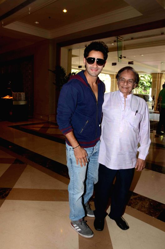 Actor Armaan Jain and music composer Anandji during the 16th IIFA Voting Weekend, in Mumbai on March 13, 2015. - Armaan Jain