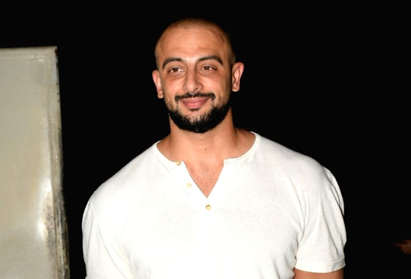"Mumbai: Actor Arunoday Singh at the screening of the film ""Music Teacher"" in Mumbai, on April 19, 2019."