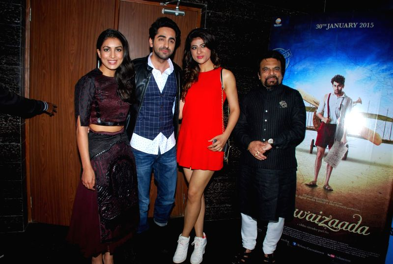 Actor Ayushmann Khurrana during screening of the film Hawaizaada in Mumbai on January 29, 2015. - Ayushmann Khurrana