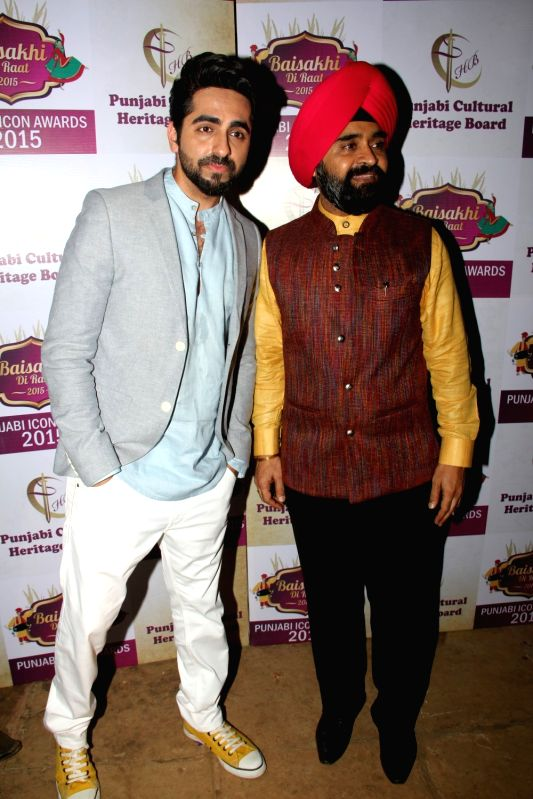 Actor Ayushmann Khurrana during the Punjabi Cultural Heritage Awards 2015 in Mumbai on April 11, 2015. - Ayushmann Khurrana