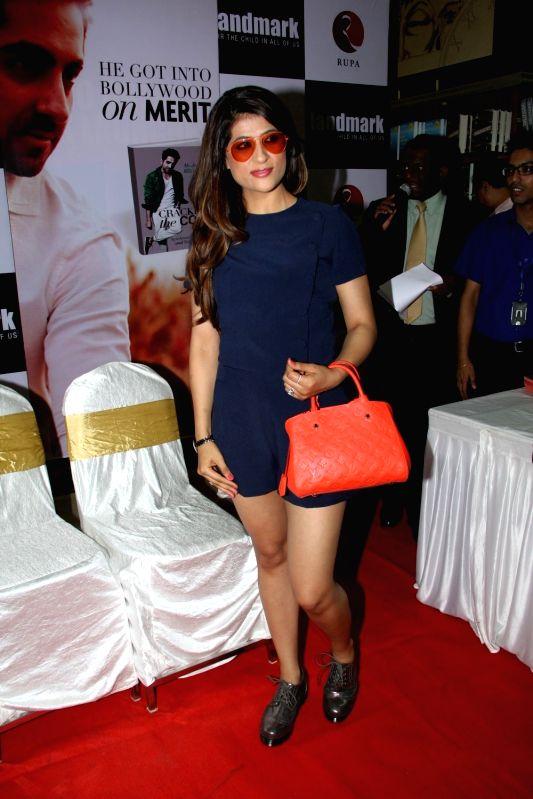 Actor Ayushmann Khurrana's wife Tahira Kashyap during the launch of their book 'Cracking the Code' in Mumbai, April 3, 2015. - Tahira Kashyap
