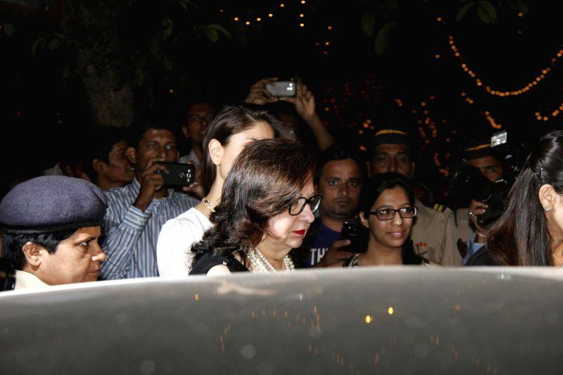 Actor Babita attend the Midnight Mass on Christmas Eve at a Church in Mumbai, on Dec 24, 2014. - Babita