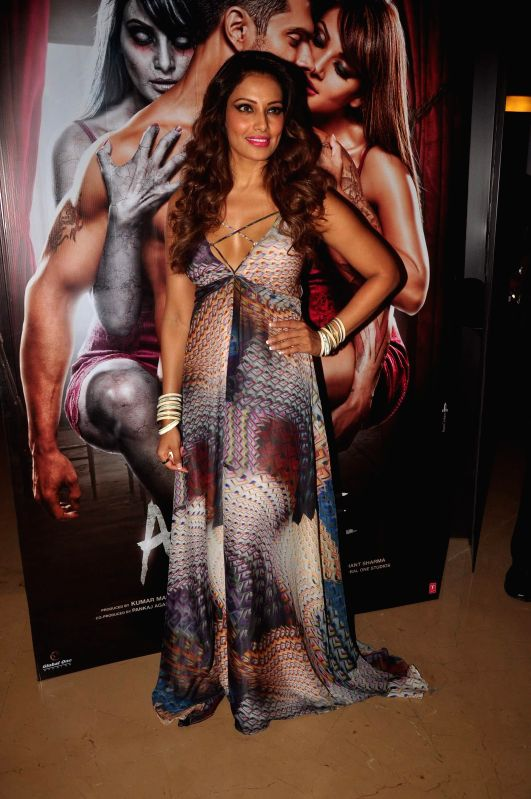Actor Bipasha Basu during the trailer launch of film Alone in Mumbai, on Dec. 9, 2014. - Bipasha Basu
