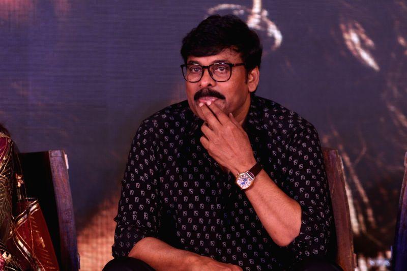 "Mumbai: Actor Chiranjeevi at the trailer launch of upcoming film ""Sye Raa Narasimha Reddy"" in Mumbai on Aug 20, 2019. (Photo: IANS)"