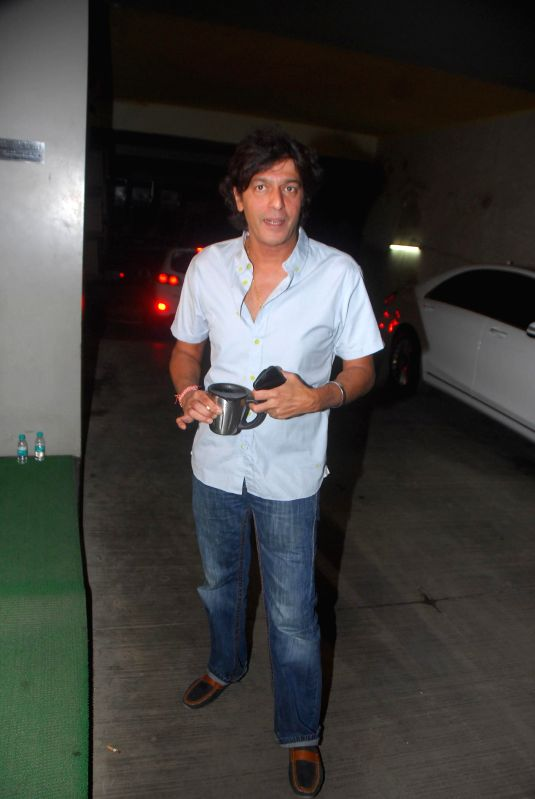 Actor Chunky Pandey during the special screening of Hollywood film Birdman in Mumbai, on Jan. 16, 2015. - Chunky Pandey
