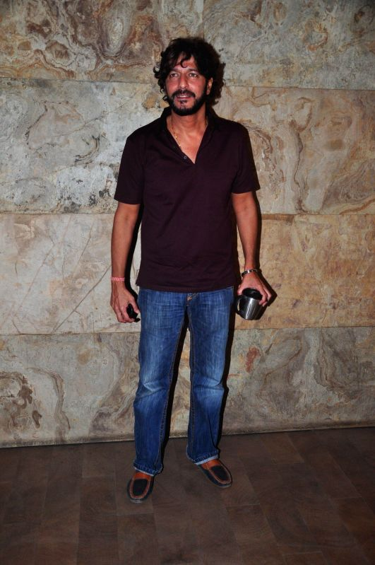 Actor Chunky Pandey snapped at Lightbox in Mumbai, on Dec 3, 2014.