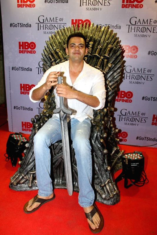 Actor Cyrus Sahukar at the premiere of film `Game of Thrones` Season 5 in Mumbai on April 9, 2015. - Cyrus Sahukar