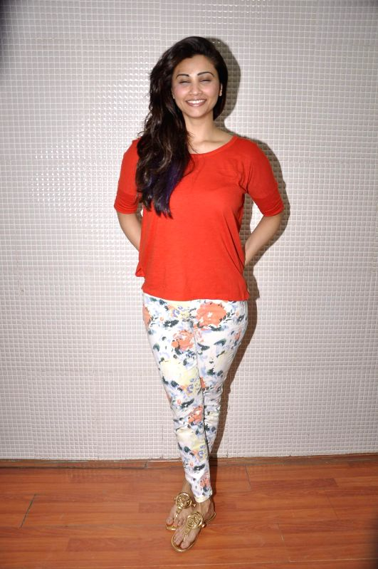 Actor Daisy Shah during the rehearsal of New Year performance at Country Club Dubai for CCIL in Mumbai, on Dec 23, 2014.